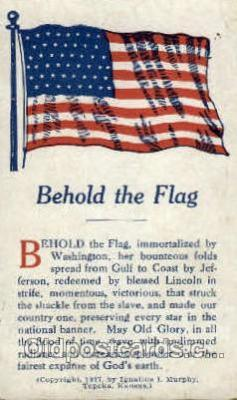 fgs100058 - United States of America Flag, Flags, Postcard Post Card