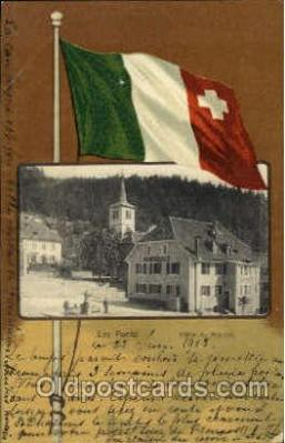 fgs100064 - Switzerland Flag, Flags, Postcard Post Card