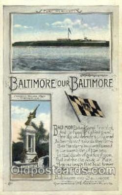 fgs100071 - Baltimore, Maryland, USA Flag, Flags, Postcard Post Card