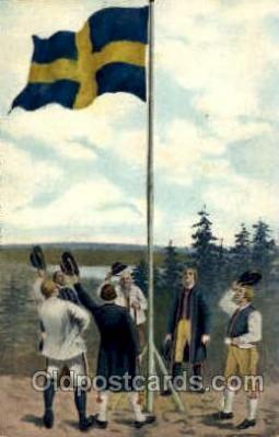 fgs100074 - Sweeden Flag, Flags, Postcard Post Card
