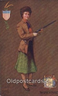 fgs100117 - Artist St. John Wisconsin, USA Postcard Post Card, Carte Postale, Cartolina Postale, Tarjets Postal,  Old Vintage Antique