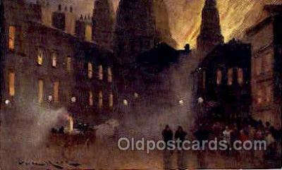 fir001004 - Artist signed, Fire Related Postcard Post Card