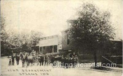 fir001015 - Upland Ind, USA, Fire Related Postcard Post Card