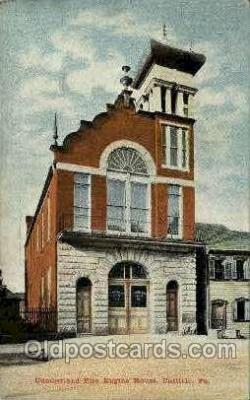 fir001054 - Fire Engine House, Carlisle, PA., PennsylvaniaFire Related, Fire Departments Postcard Post Card