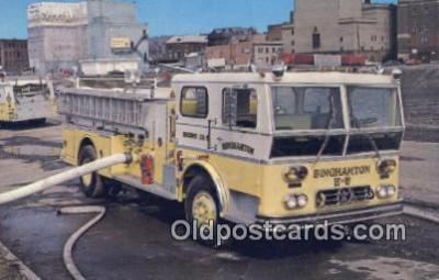 fir001074 - Binghamton Engine No 5, Fire Dept Binghamton, NY, USA Postcard Post Cards Old Vintage Antique