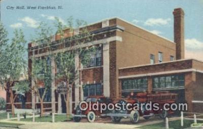 fir001075 - City Hall West Frankfort, IL, USA Postcard Post Cards Old Vintage Antique