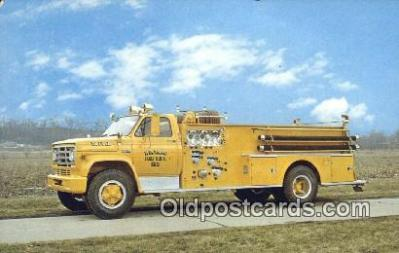 fir001077 - Boyer Pumper, Universal Fire Apparatus Corp Logansport, IN, USA Postcard Post Cards Old Vintage Antique