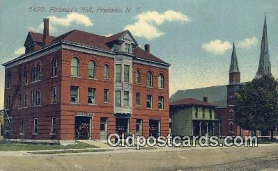 fir001078 - Fireman's Hall Fredonia, NY, USA Postcard Post Cards Old Vintage Antique