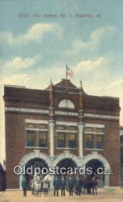 fir001091 - Fire Station No 1 Waterloo, IA, USA Postcard Post Cards Old Vintage Antique