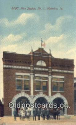 fir001093 - Fire Station No 1 Waterloo, IA, USA Postcard Post Cards Old Vintage Antique