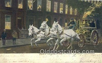 fir001096 - Going to the Fire  Postcard Post Cards Old Vintage Antique