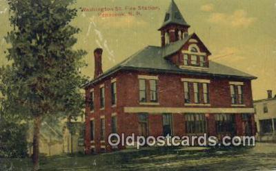 fir001100 - Washington St Fire Station Penacook, NH, USA Postcard Post Cards Old Vintage Antique