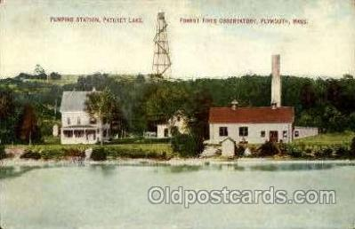 fir050007 - Pumping station, Plymouth, Mass., Massachusetts, USA Fire Department Postcard Post Card
