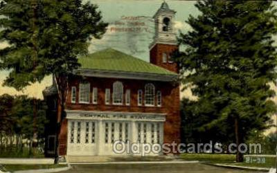 fir100017 - Fire station, Potsdam, NY, New York, USA Fire Department Postcard Post Card