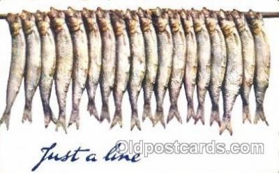 fis001103 - Just a Line Fishing Postcard Post Card