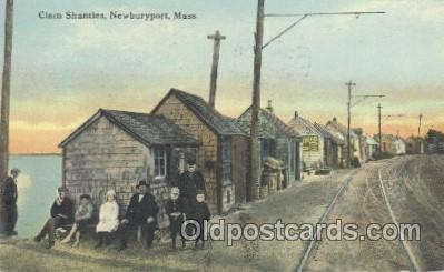 fis001166 - Newburyport, Mass. USAClam Shanties, Newburyport, Mass. USA Fishing Postcard Post Card