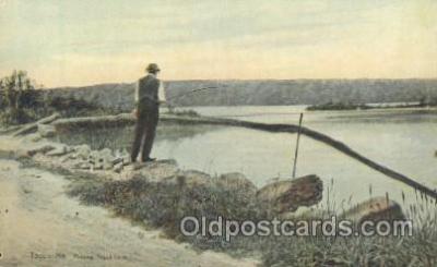 fis001168 - Togus Lake, Togus Maine, USATogus Maine, USA Fishing Postcard Post Card