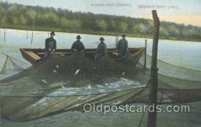 fis001169 - Cedar Point Ohio, USAPound Net Fishing, Cedar Point Ohio, USA Fishing Postcard Post Card