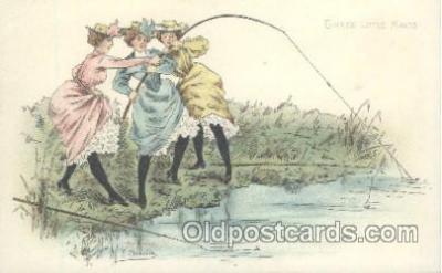 fis001170 - Artist F. ChamouinArtist F. Chamouin, Fishing Postcard Post Card
