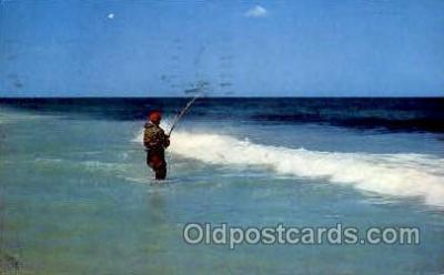 fis001246 - Bass fishing, Cape Cod, Mass., Massachusetts, USA Fishing Postcard Post Card