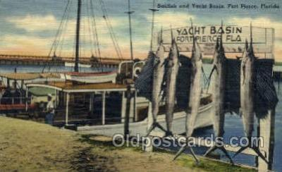 fis001279 - Fort Pierce, Florida USA Fishing Old Vintage Antique Postcard Post Card