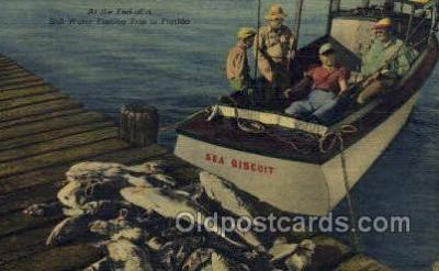 fis001288 - Florida USA Fishing Old Vintage Antique Postcard Post Card