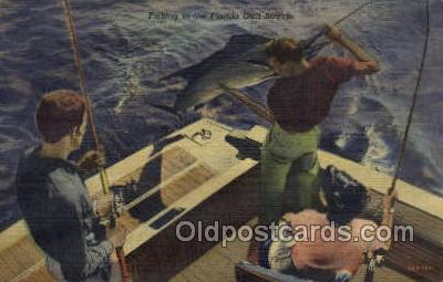 fis001293 - Florida Golf Stream Fishing Old Vintage Antique Postcard Post Card