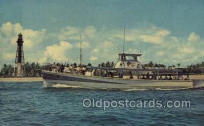 fis001314 - Pompano Beach, FL, USA Fishing Old Vintage Antique Postcard Post Card