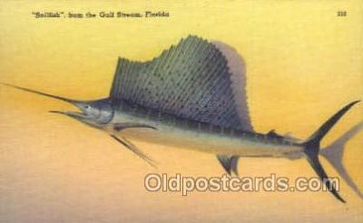 fis001335 - Gulf Stream, Florida, USA Fishing Old Vintage Antique Postcard Post Card