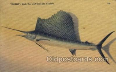 fis001342 - Gulf Stream, Florida, USA Fishing Old Vintage Antique Postcard Post Card