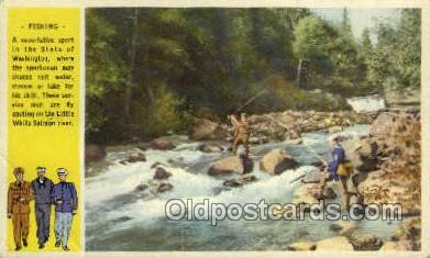 fis001366 - Fishing Old Vintage Antique Postcard Post Card