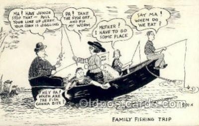 fis001381 - Fishing Old Vintage Antique Postcard Post Card