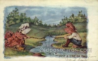 fis001384 - Fishing Old Vintage Antique Postcard Post Card