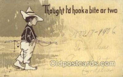 fis001394 - Fishing Old Vintage Antique Postcard Post Card
