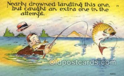 fis001395 - Fishing Old Vintage Antique Postcard Post Card