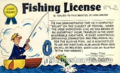 fis001422 - Fishing Old Vintage Antique Postcard Post Card