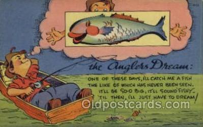 fis001434 - Fishing Old Vintage Antique Postcard Post Card