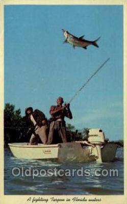 fis001444 - Florida, USA Fishing Old Vintage Antique Postcard Post Card