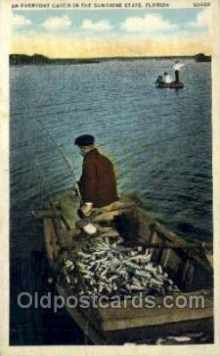 fis001449 - Florida, USA Fishing Old Vintage Antique Postcard Post Card