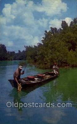 fis001463 - Fishing Old Vintage Antique Postcard Post Card