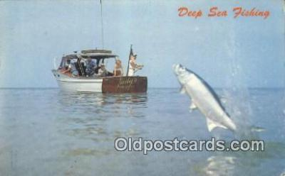 fis001556 - Deep Sea Fishing  Postcard Post Cards Old Vintage Antique
