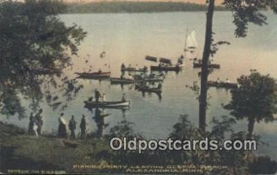 fis001560 - Fishing Party Alexandria, MI, USA Postcard Post Cards Old Vintage Antique