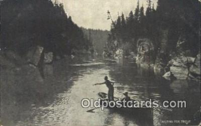 fis001561 - Casting for Trout  Postcard Post Cards Old Vintage Antique