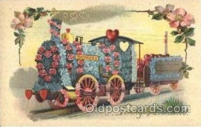 flr001074 - Train Flower, Flowers, Postcard Post Card