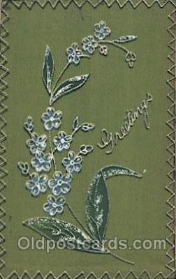 flr001087 - Silk Postcard Flower, Flowers, Post Card