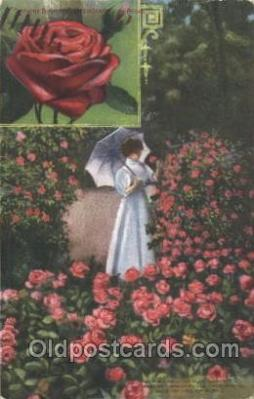 flr001092 - Rose garden Flower, Flowers, Postcard Post Card