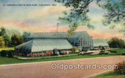 flr001106 - Conservatory in Eden Park, Cincinnati, Ohio,USA Flower, Flowers Postcard Post Card