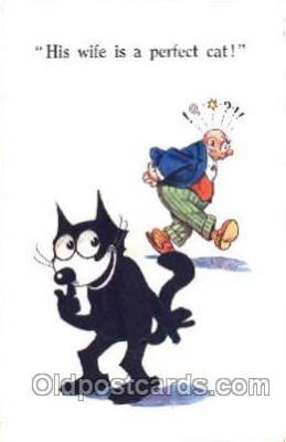 flx000017 - Felix The Cat Postcard Post Card