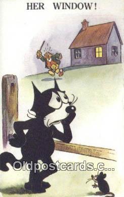 flx000204 - Valentine Series  Felix the Cat Postcard Post Card