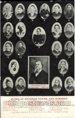 fmp001018 - 21 Wives of Brigham Young  Postcard Post Cards Old Vintage Antique